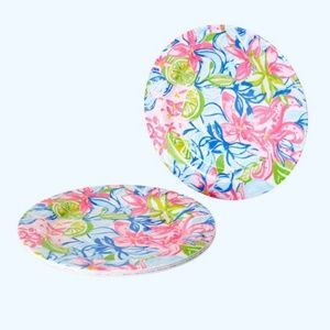 NEW Lilly Pulitzer GWP Set of 4 Picnic Plates
